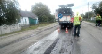 ремонт дороги у Полицях