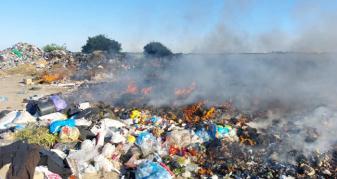 Поблизу селища Дубище Рожищенської громади загорілося сміттєзвалище.