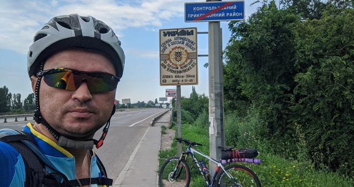 Юрій Савчук проїхав на велосипеді 830 кілометрів