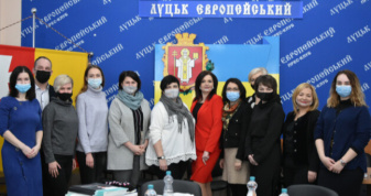 Зустріч у Луцькій міській раді щодо реалізації проекту «Просування гендерної рівності та розширення прав і можливостей жінок в рамках реформи децентралізації в Україні».