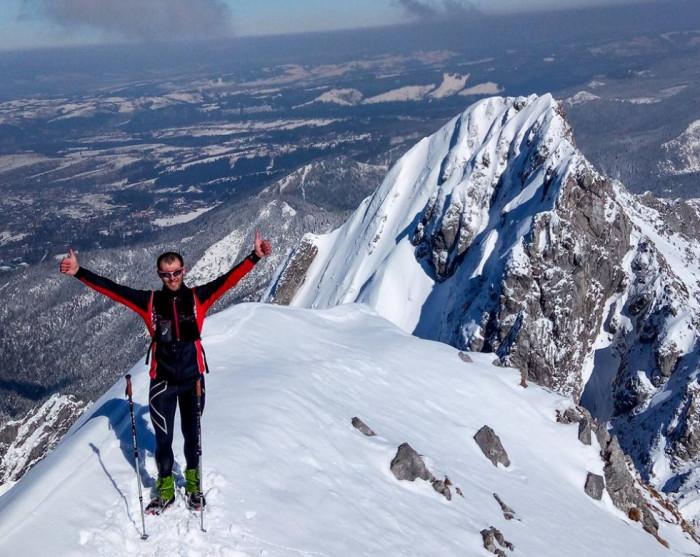 Андрій Пилипюк під час походу в гори