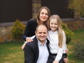 Андрій Пехотін з сім'єю