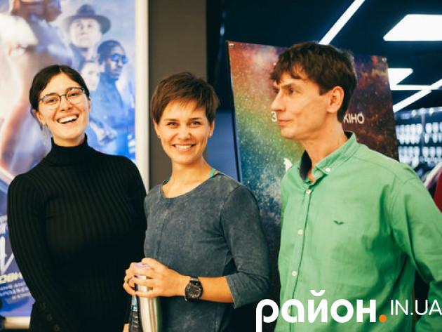 Координаторка прем'єрного туру Леся Хом'як (зліва на право), продюсерка Катерина Мізіна та режисер Ярослав Попов