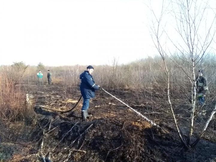 Рятувальники продовжують гасити пожежу