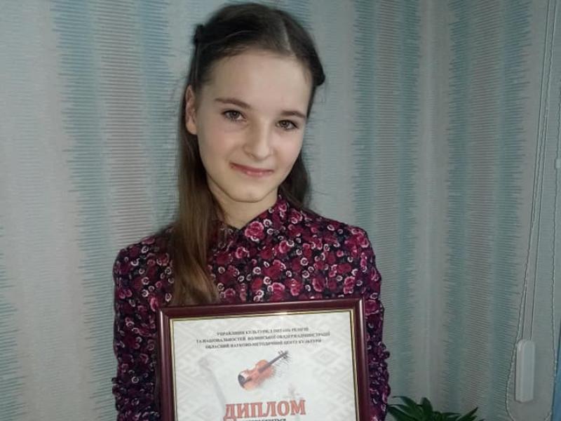 Діана Карпович посіла третє місце