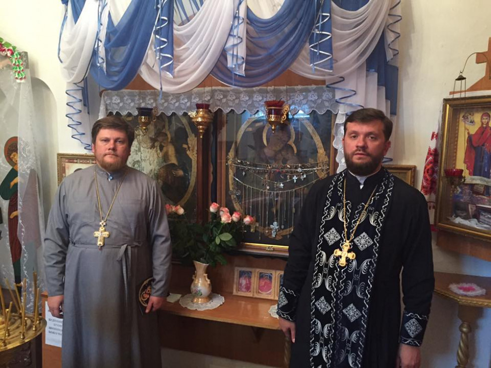 Отці Олександр Богданов та Валентин Марчук