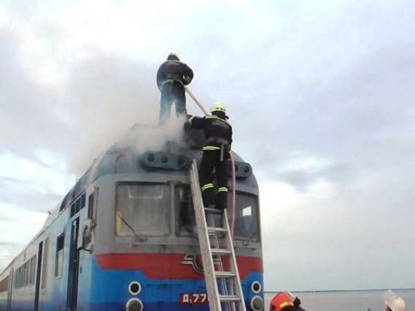 Розповіли, чому загорівся поїзд «Ковель – Сарни» / Фото ілюстративне