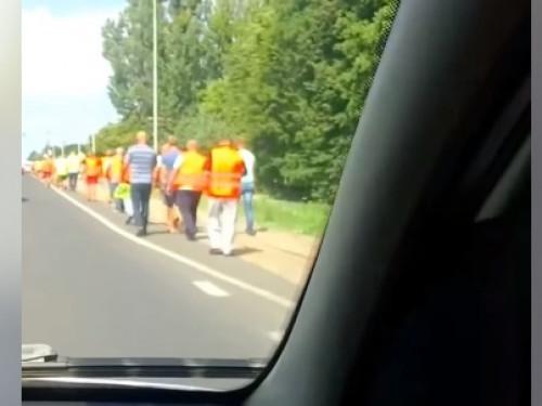 Поблизу Люблинця далекобійники перекрили «варшавську» трасу. ВІДЕО