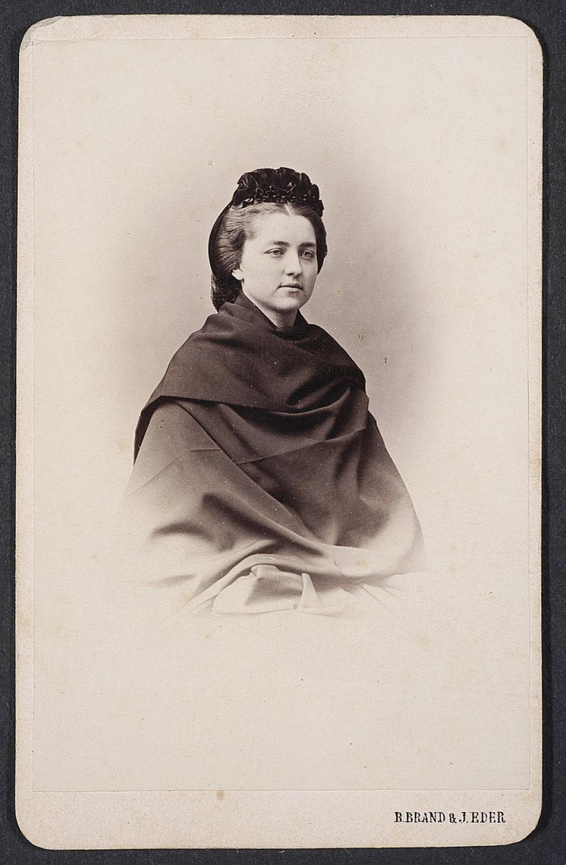 Анастасія Дзєдушицька, фото 1863 року.