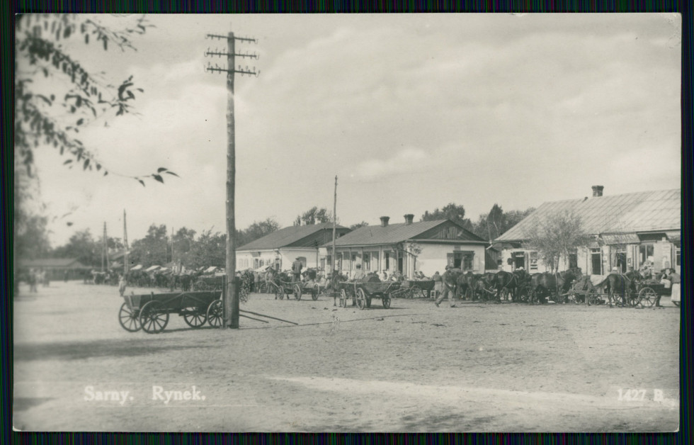 Ринок в Сарнах, 1939 рік.