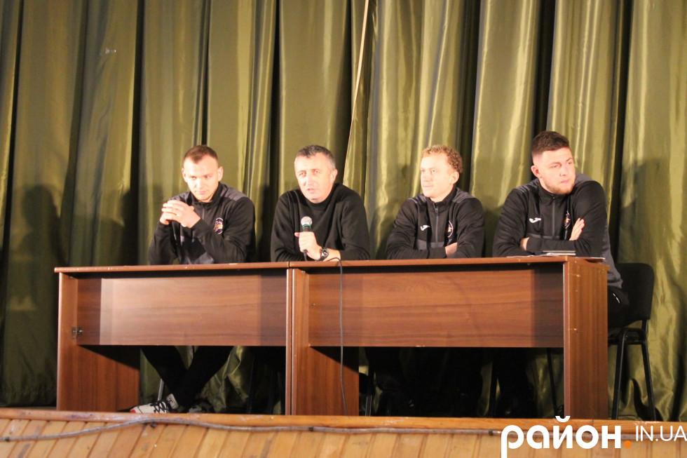 Зліва направо: Петро Глушко, Дмитро Чайковський, Едуард Федчук, Максим Дейна