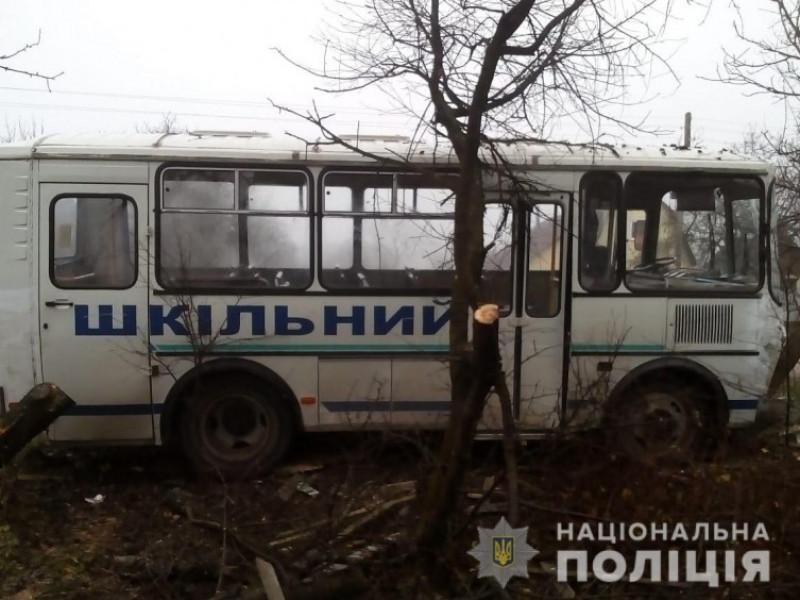 Шкільний автобус потрапив у ДТП