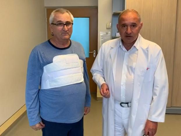 Борис Тодуров і пацієнт, якому пересадили серце