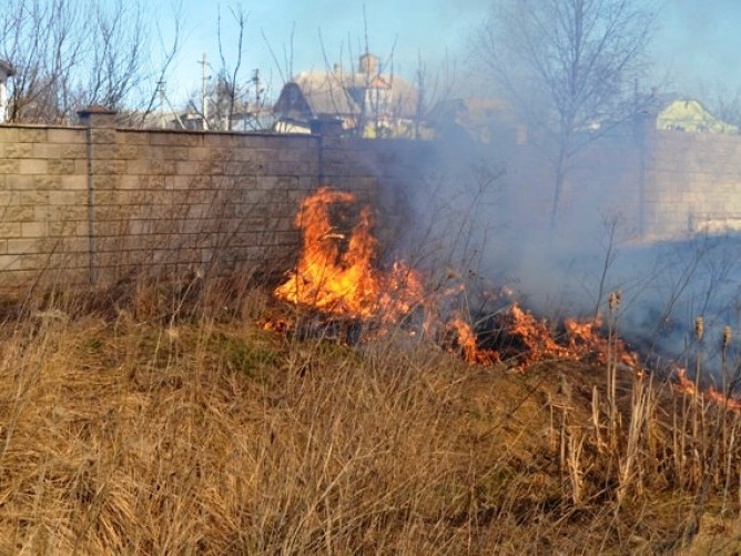 Жителів Маневицького району просять не палити суху траву