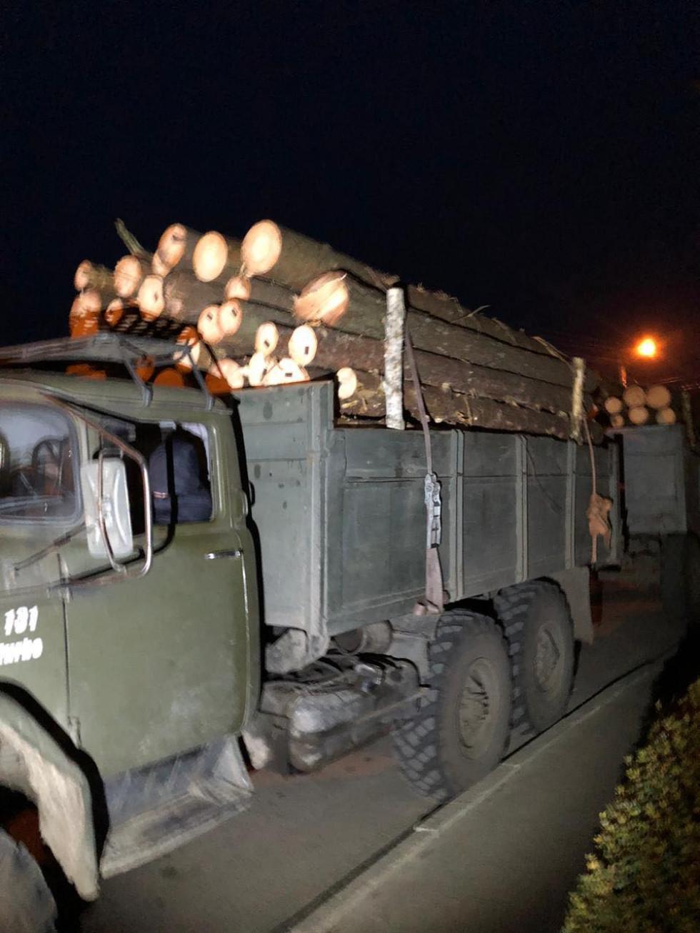 Вантажівка із незаконною деревиною