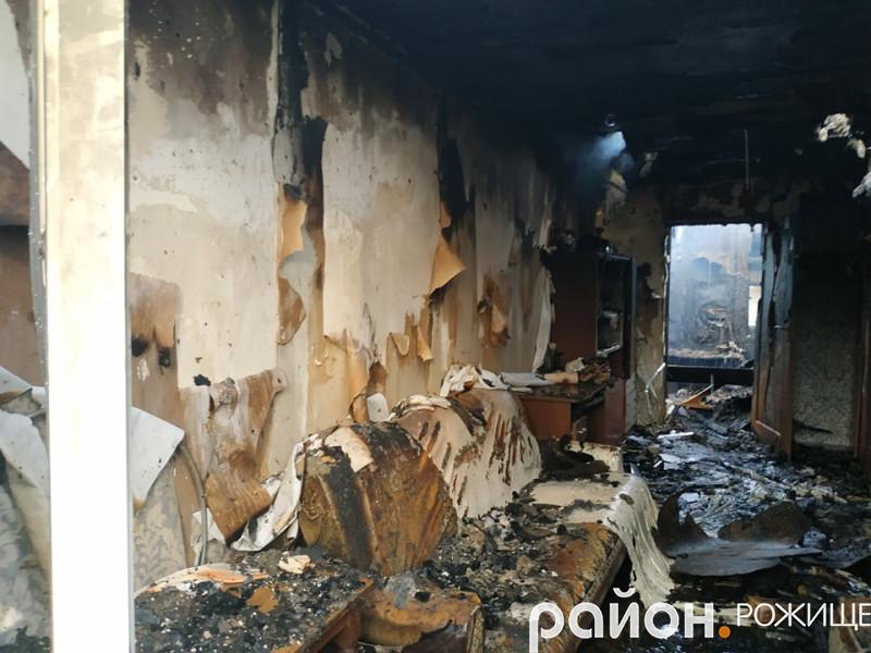 Наслідки пожежі на вулиці Сухарева