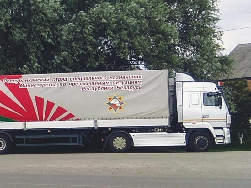 Білоруські вантажівки, які бачили у Ковелі, це гуманітарна допомога для підтоплених регіонів України