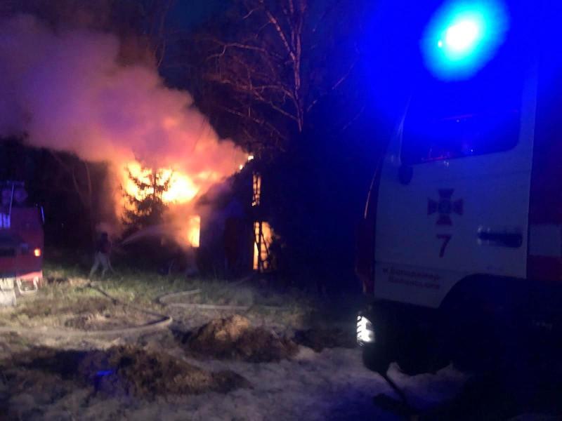 Пожежа у селі Пархоменкове