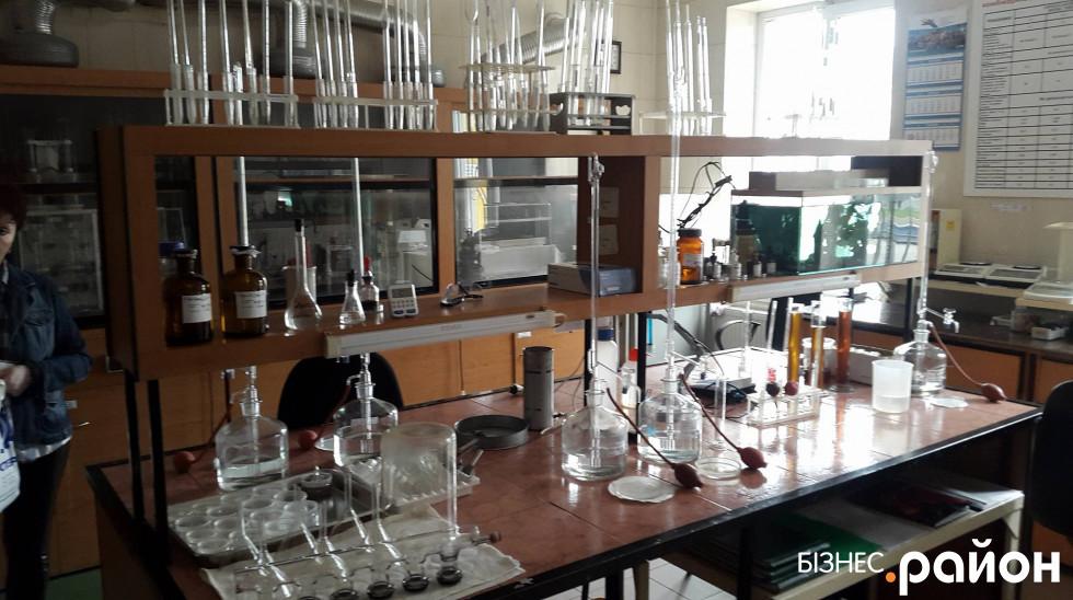 У лабораторії