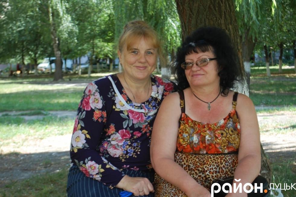Голова ОСББ Тетяна Марченко та її заступник Людмила Саган