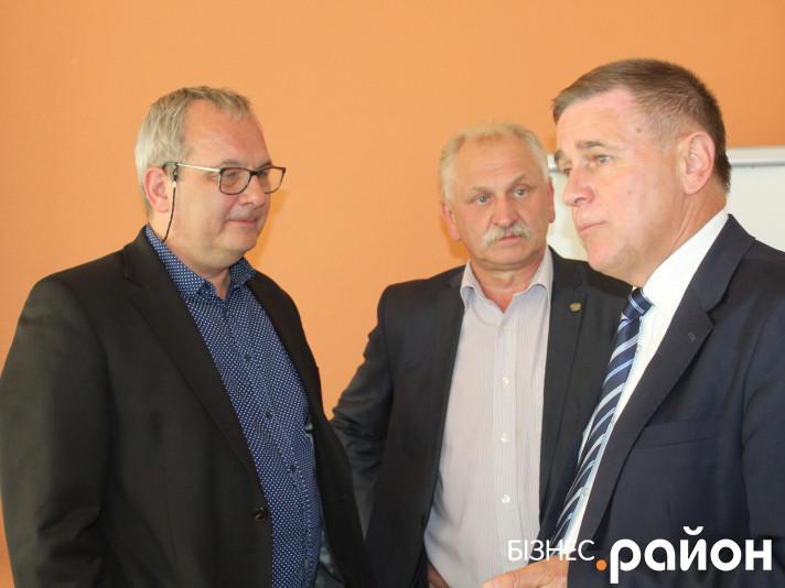 Зліва направо: Марек Запур, Анджей Страва, Юрій Горбенко