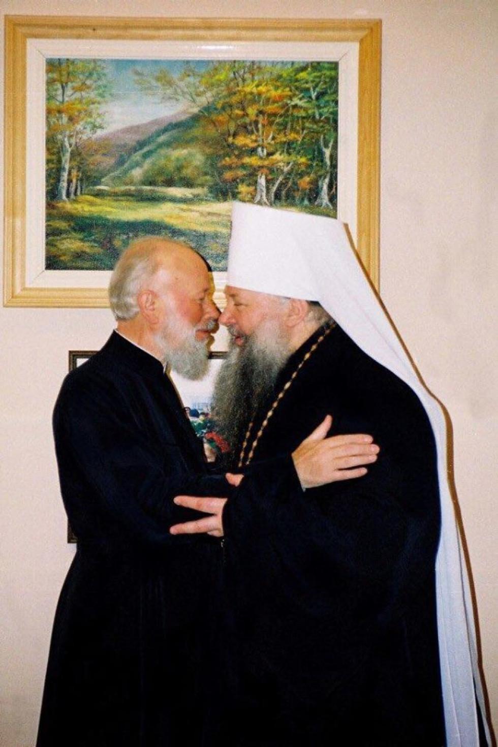 Митрополит Ніфонт з Блаженнішим митрополитом Володимиром