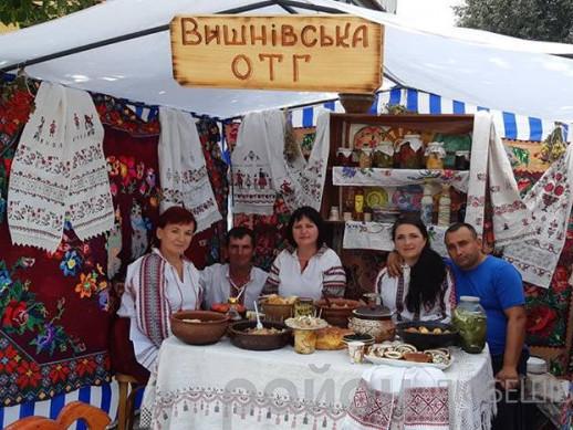 Представники Вишнівської ОТГ на фестивалі «Берегиня»