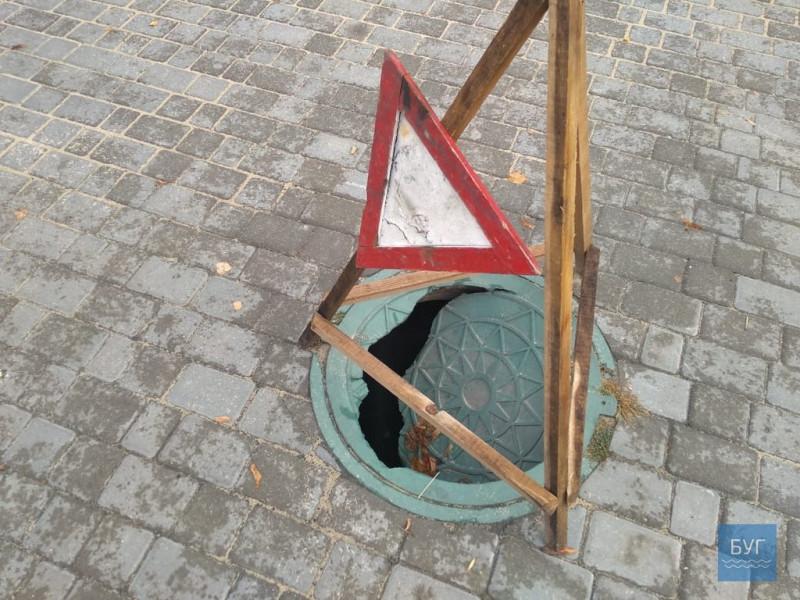 Петро Саганюк пояснив чому у Володимирі-Волинському провалюються каналізаційні люки