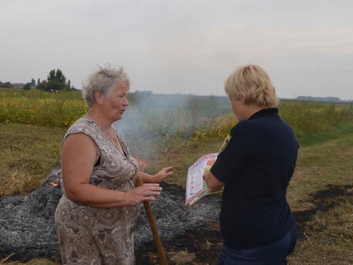 Рятувальники виявилипаліїв сухої трави