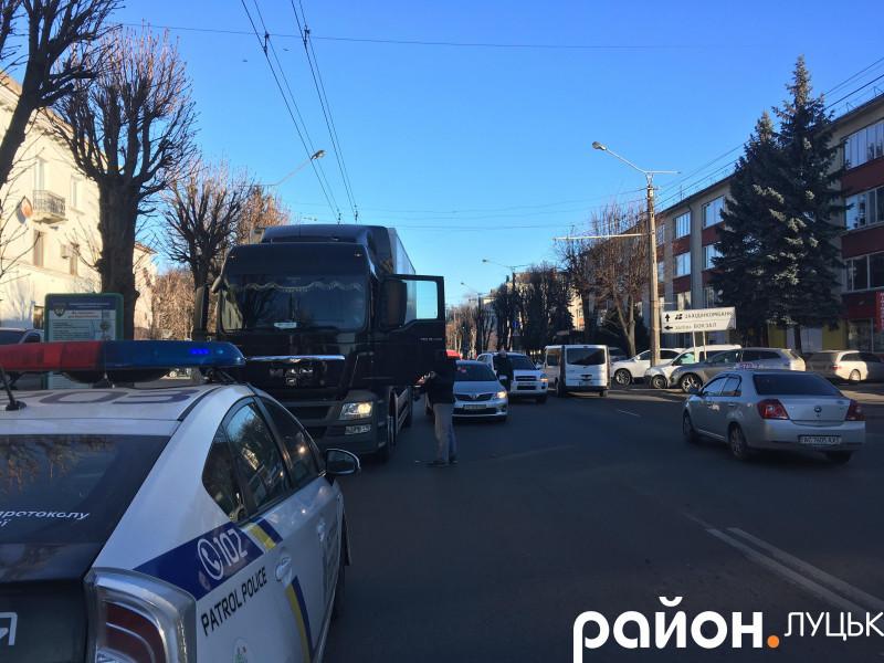 Аварія на проспекті Перемоги в Луцьку