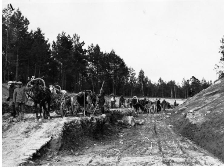 Будівництво каналу ім. Президента Ігнація Мосьціцького,  1929 рік