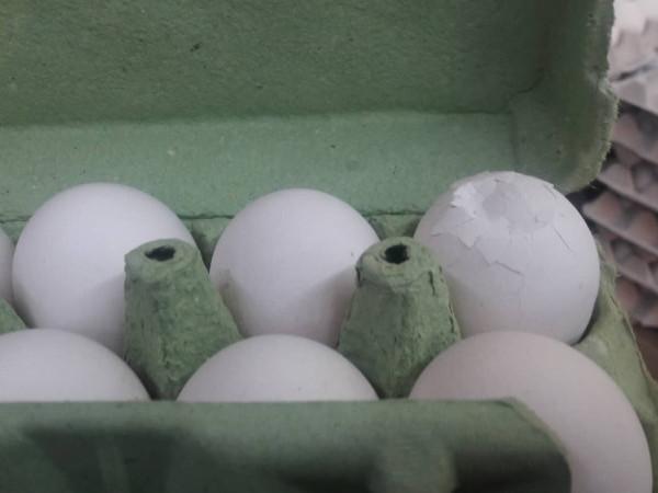 розбиті курячі яйця