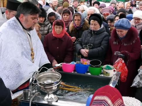 Як у храмі Горохова святили воду