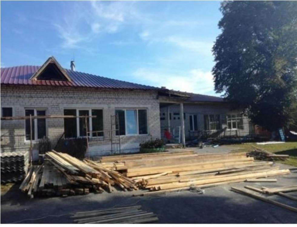 Капітальний ремонт дошкільного навчального закладу в селі Олеськ.