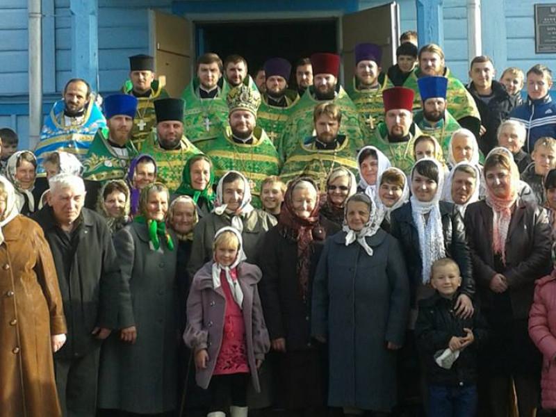 Парафіяни церкви у селі Борисковичі на 105-річчі храму