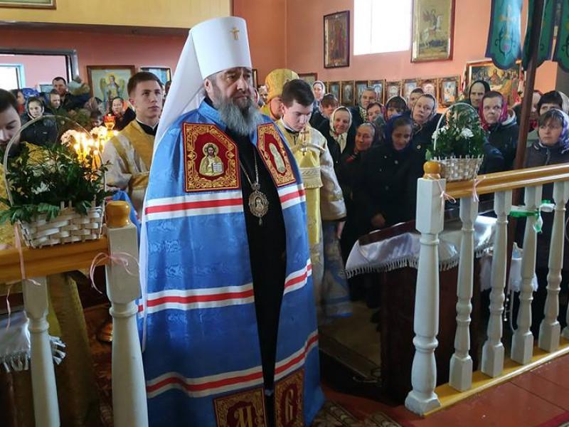 Митрополит Володимир відвідав Свято-Михайлівський храм на Ратнівщині