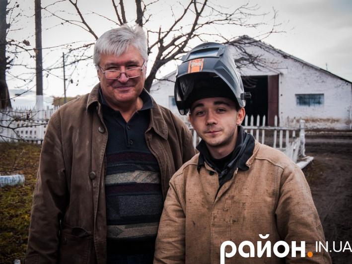 Віктор Жаданов із сином