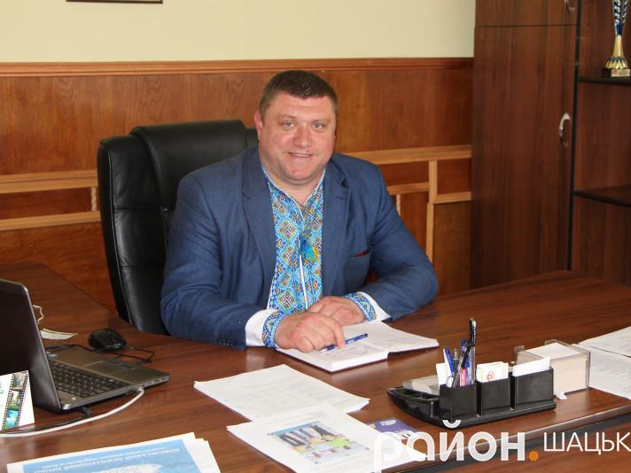 Голова Шацької РДА Василь Голядинець