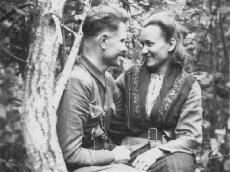 Закохані повстанці Василь Сарчук і Лідія Зубрицька (Сарчук)