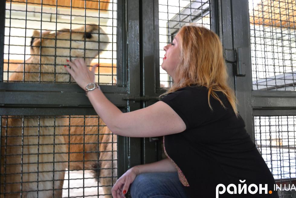 Людмила Денисенко дбає про тварин