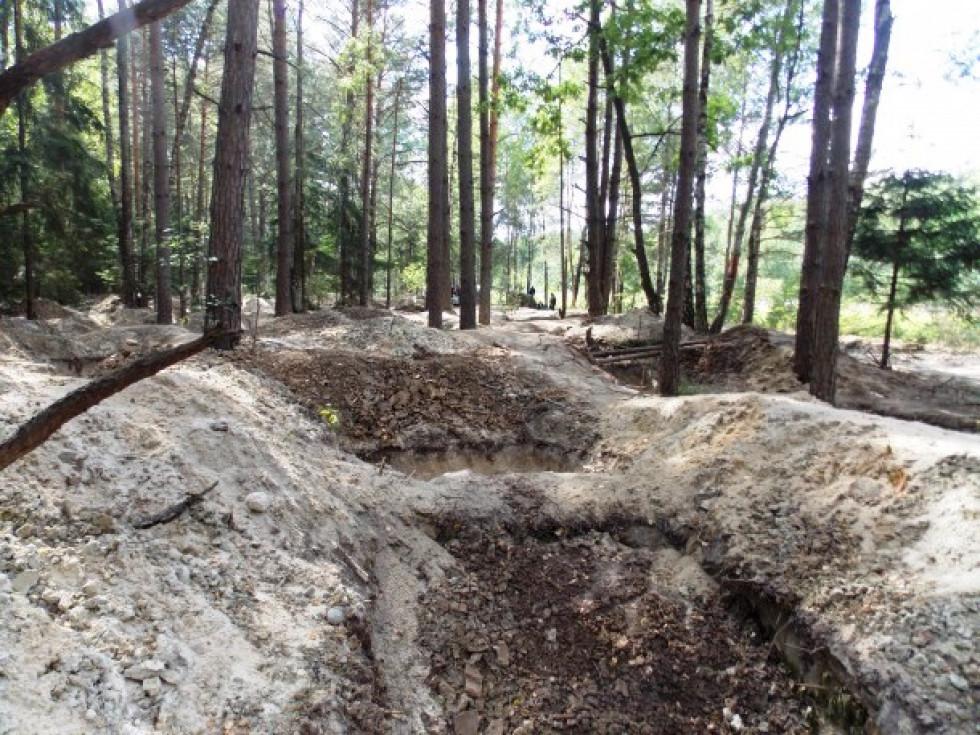 Після себе бурштинокопачі залишили глибокі вирви, які працівники лісу змушені були засипати.