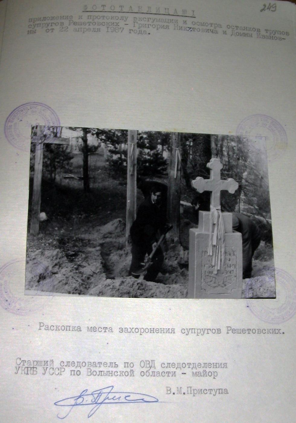 Розкоп могили Решетовських