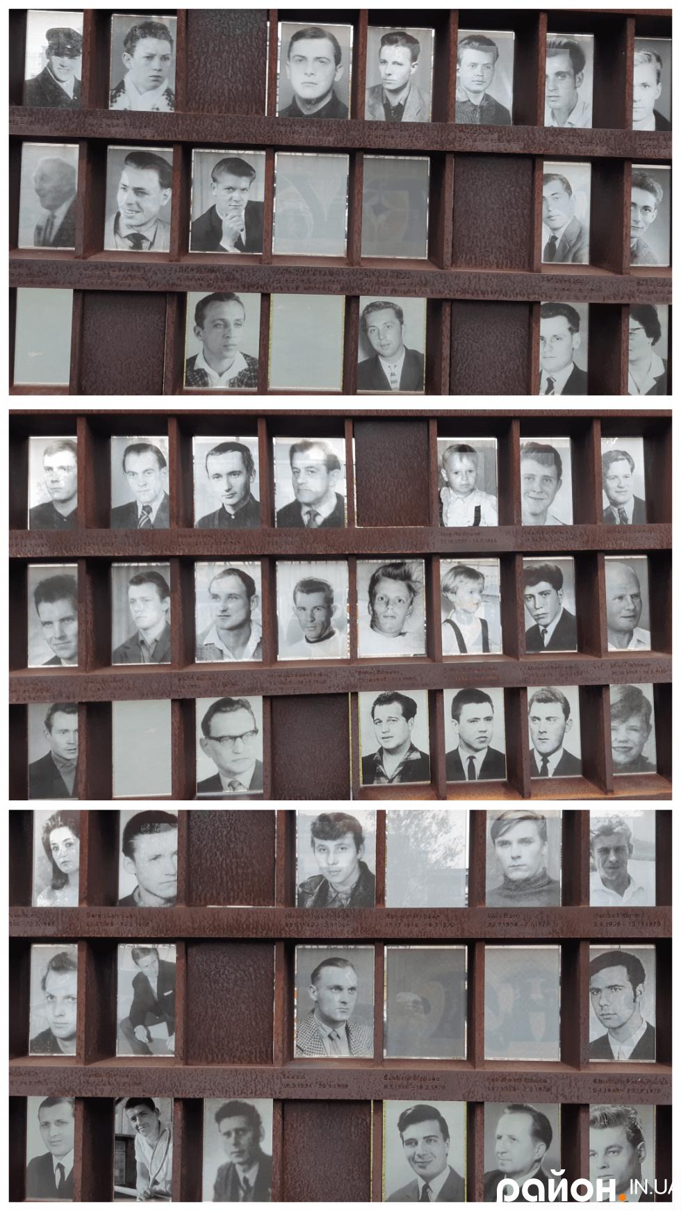 Вікна пам'яті про 138 берлінців, які загинули при спробі втечі у західну частину міста. Ще орієнтовно 150 осіб погубили життя уздовж залізної завіси по всій території НДР