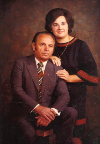 Михайло Чигрин і його дружина Марічка Галабурда, 1976 р.